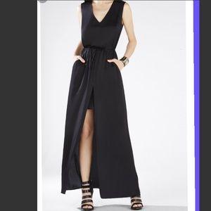 BCBG drawstring dress with front slit